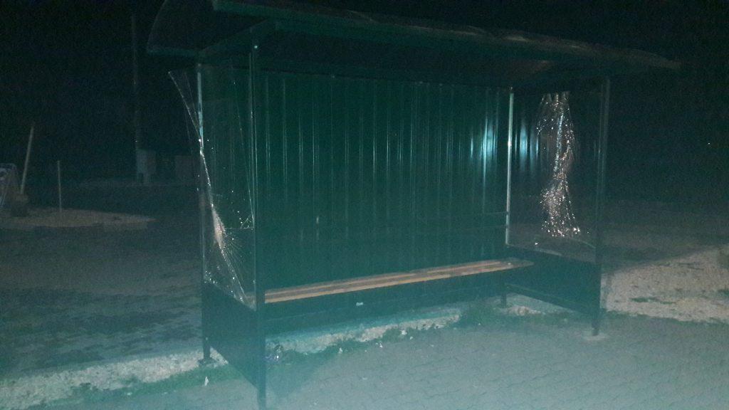 Przystanek został zniszczony prawdopodobnie we wtorek, 1 listopada